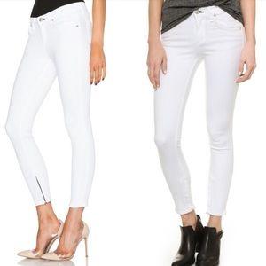 Rag & Bone Capri Ankle Zip Skinny Crop Jeans